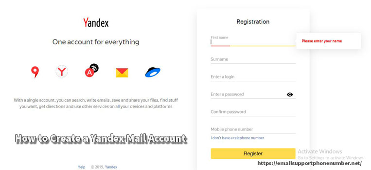 How to Create a Yandex Mail Account